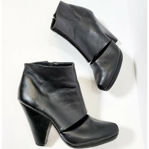 Rachel Comey Ankle Booties Peep Toe Cut Out Boots